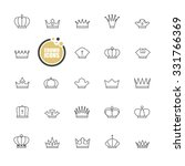 basic crown icons design | Shutterstock .eps vector #331766369