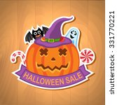 halloween sale banner | Shutterstock .eps vector #331770221
