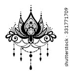vector black and white tattoo... | Shutterstock .eps vector #331771709