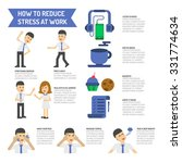 how to reduce stress at work. | Shutterstock .eps vector #331774634
