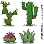 cactus collection on a white... | Shutterstock .eps vector #331776395