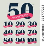 template logo set anniversary...   Shutterstock .eps vector #331777235