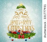 typographical christmas... | Shutterstock .eps vector #331777931
