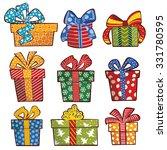 christmas gift boxes. vector...   Shutterstock .eps vector #331780595