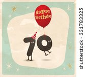 vintage style funny 70th... | Shutterstock .eps vector #331783325
