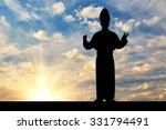 concept of religion. silhouette ... | Shutterstock . vector #331794491