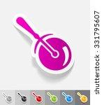 knife roller paper sticker with ... | Shutterstock .eps vector #331795607