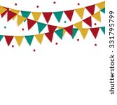 party background with flags... | Shutterstock .eps vector #331795799