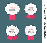 vintage label with ribbon... | Shutterstock .eps vector #331795919