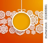 christmas paper card with... | Shutterstock .eps vector #331800881