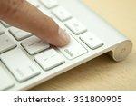 delete button on the computer... | Shutterstock . vector #331800905