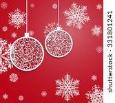ball openwork paper on red... | Shutterstock .eps vector #331801241