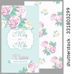 wedding invitation vintage card ... | Shutterstock .eps vector #331803299