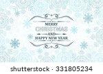 christmas snowflakes vector... | Shutterstock .eps vector #331805234