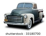 An Old Pickup Truck From The...
