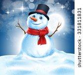 snowman | Shutterstock .eps vector #331811831