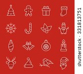 christmas icons | Shutterstock .eps vector #331813751
