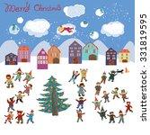 cheerful bright cartoon card... | Shutterstock .eps vector #331819595