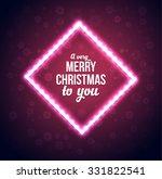 christmas lights frame.... | Shutterstock .eps vector #331822541