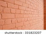 Angle View Of A Brick Wall Wit...