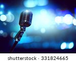 close up of microphone in... | Shutterstock . vector #331824665