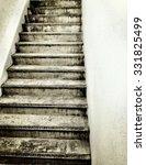 old stair case in basement | Shutterstock . vector #331825499