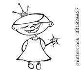 cute cartoon fairy princess... | Shutterstock .eps vector #331826627
