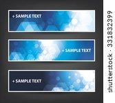 set of horizontal banner  ... | Shutterstock .eps vector #331832399