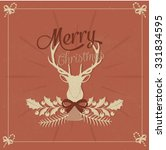 merry christmas background with ... | Shutterstock .eps vector #331834595