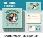 cute groom and bride character... | Shutterstock .eps vector #331835831
