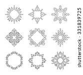 set of geometric frames created ...   Shutterstock .eps vector #331839725