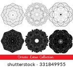 collection of vector lotus... | Shutterstock .eps vector #331849955