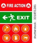 exit sign. vector illustration | Shutterstock .eps vector #331851281
