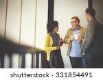 business team coffee break...   Shutterstock . vector #331854491