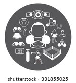 boxing icons set | Shutterstock .eps vector #331855025