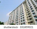 dense of hdb housing flats with ... | Shutterstock . vector #331859021