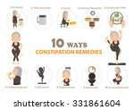 remedies for constipation info... | Shutterstock .eps vector #331861604