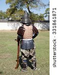Small photo of KAGAWA, JAPAN - OCTOBER 25: Ancient firelock rifle fighters at Marugame Historical battle Festival, event dedicated to Japanese culture and tradition at Marugame-castle on October 25, 2015 in Japan.
