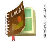 album icon vector art and... | Shutterstock .eps vector #331866671