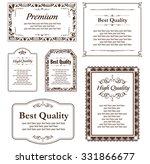 decorative gold frame set... | Shutterstock .eps vector #331866677
