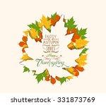 thanksgiving. autumn abstract... | Shutterstock .eps vector #331873769