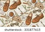 hand drawn vector seamless...   Shutterstock .eps vector #331877615