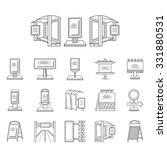 set of black line icons for... | Shutterstock . vector #331880531