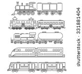 line art train icons.... | Shutterstock .eps vector #331881404