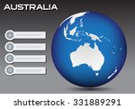 earth globe with australia map... | Shutterstock .eps vector #331889291