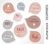 light blue tag on christmas...   Shutterstock .eps vector #331890851
