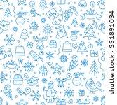christmas season vector... | Shutterstock .eps vector #331891034