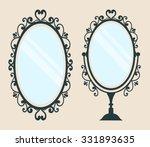 vintage mirror with a handle...