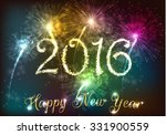 happy new year 2016 with... | Shutterstock . vector #331900559