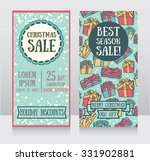 templates for christmas sale... | Shutterstock .eps vector #331902881